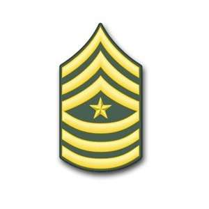 US Army Sergeant Major Rank Insignia vinyl transfer decal