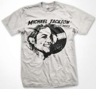 Michael Jackson Memorial Record T Shirt (Mens and Womens