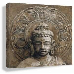 Giclee of Buddha Painting STRENGTH 24x24inch: Home