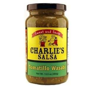 Tomatillo Wasabi Salsa Charlies Salsa  Grocery & Gourmet