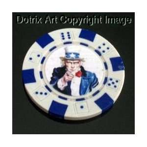 com Uncle Sam I WAN YOU Las Vegas Casino Poker Chip