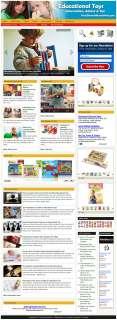 NEW**Established EDUCATIONAL TOYS Website For Sale