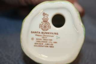 Royal Doulton Santa Bunnykins Rabbit Figurine
