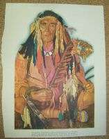 WEASEL HEAD CHIEF MEDICINE MAN BLACKFEET INDIAN PRINT