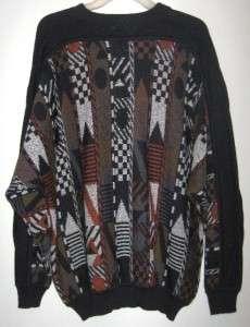 St Croix Knits Vtg Textured Wool Blend Sweater Mens M