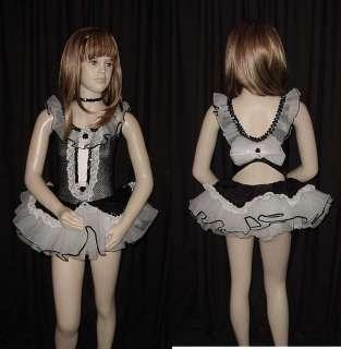 OPENING ACT Black & White Tutu Dance Costume Child L