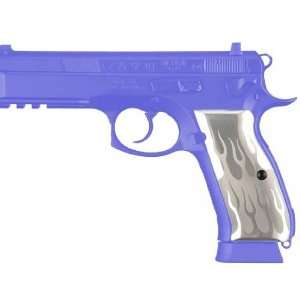 Hogue CZ 75   CZ 85 Flames Aluminum   Clear Anodized 75134