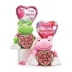 Valentines Day Plush Frog with Chocloate Heart and Air