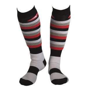 AXO Racing MX WOMENS Socks   Stripes   RED   grey   18600