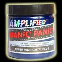 MANIC PANIC AMPLIFIED Hair Dye After Midnight Dark BLUE