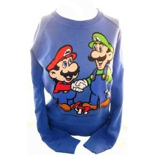 Super Mario Bros Ladies Pullover Sweatshirt   Mario and Luigi Brothers