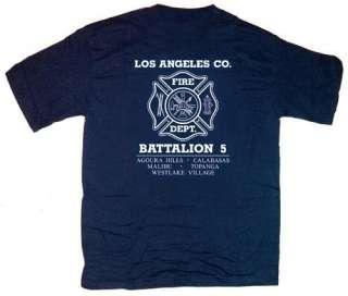 Los Angeles County Fire Dept. Battalion 5 T shirt L