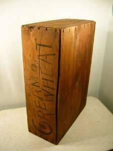 Antique Wooden Cream Of Wheat Advertising Crate, Old Primitive