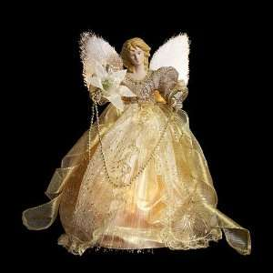Angel Christmas Tree Topper with Enchanted Gold Dress: Home & Kitchen