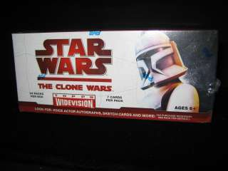 Star Wars Clone Wars Topps Widevision Cards Sealed Box