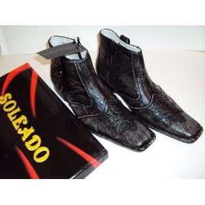 Soleado Italian Design Dress Boots Shoes   Size 7 or 7.5 BLACK / Size