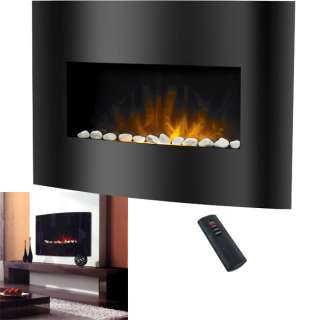 Northwest Affinity, Black Arched Glass Panel Electric Fireplace Heater
