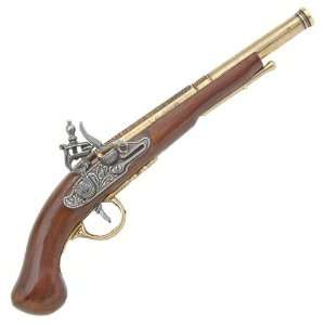 1700s Revolutionary War Flintlock Pistol   Detailed
