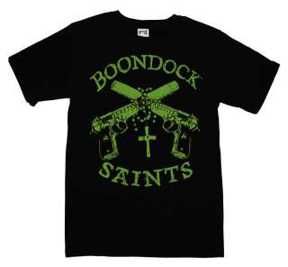 Boondock Saints Guns And Rosary Cool Movie T Shirt Tee