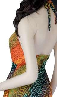 New Sexy Ladies Halter Long Maxi Dress Summer Beach S M