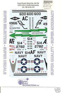 Superscale Decal 48 756 USN A4D 2 Skyhawk VA 106 |