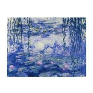Claude Monet   Water Lilies And Willow Branches Canvas
