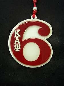 Kappa Alpha Psi Red Line Number # 6 Teekee Tiki