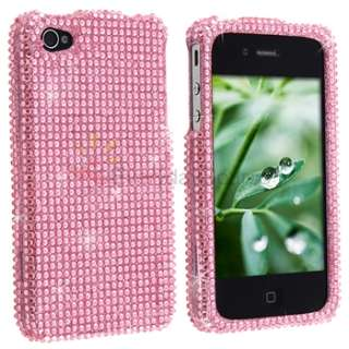 Pink Rhinestone Bling Case Cover for Verizon iphone 4G