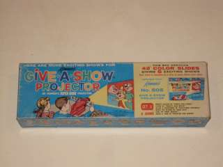Give A Show Projector Kenner Slides in Box Alvin Chipmunks 1960's