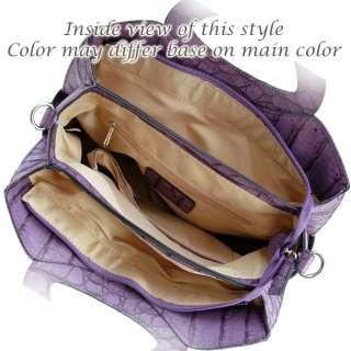Purple croco Inspired Designer Handbag satchel Bag