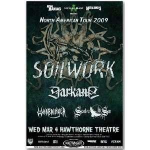 Soilwork Poster   Hawthorne Concert Flyer   North American Tour
