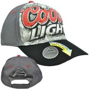 Coors Light Beer Built In Bottle Cap Opener Relaxed Fit Gray Black Red