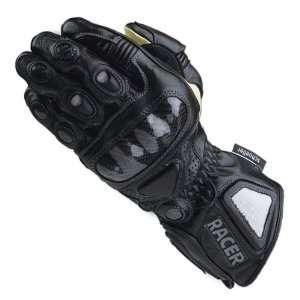 Racer High End Gloves Leather Carbon Knuckles Black Medium
