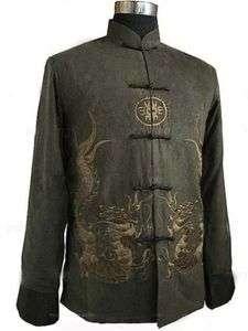 Chinese Men Dragon Kung Fu Shirt Jacket/Coat Vest