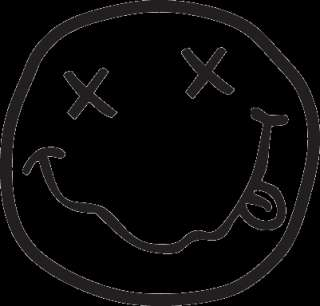 Nirvana STONER Smiley Face Black Decal Sticker In Utero