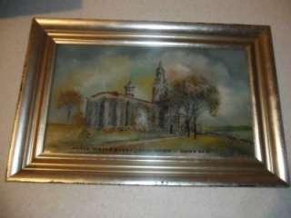 Antique Reverse Glass Painting SUNY Buffalo, New York