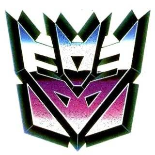 Decepticon Blue Purple Mask Logo Iron On Transfer for T Shirt