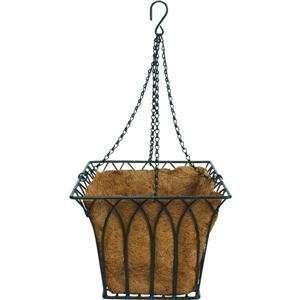 Hanging Basket Planter, 14 W/LNR HANGING BASKET