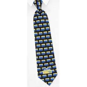 NBA Denver Nuggets Logo black silk Tie