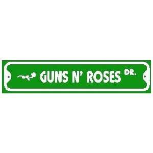 GUNS N ROSES DRIVE rock band street sign