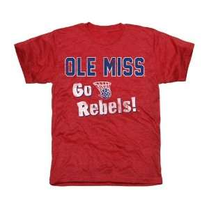 Ole Miss Rebels Cheering Section Tri Blend T Shirt   Red Sports