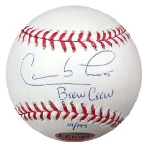 Carlos Lee Signed Ball   Brew Crew PSA DNA #K31908