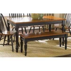 Liberty Low Country Dining Black Rectangular Leg Table