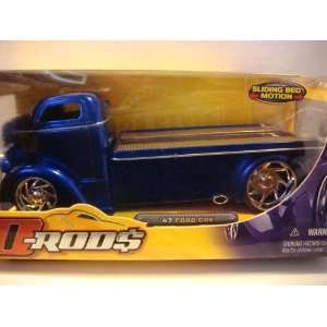 Jada D RODS Ford COE 1947 hauler Blue rubber tread scale 1