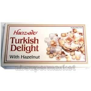 Hacizade Turkish Delight with Hazelnut (Findikli Lokum) 454g: