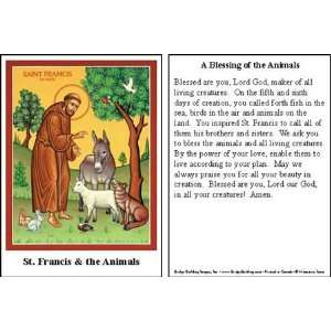 St. Francis Blessing of the Animals Prayer Cards (100