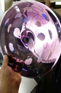 VIS GLASS INC. HAND BLOWN ART GLASS PURPLE UNIQUE WALL MOUNT HANG
