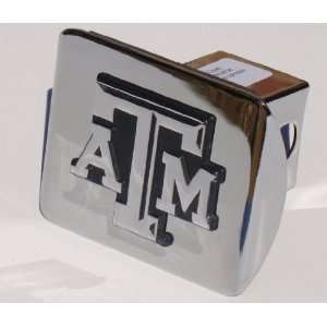 Texas A&M Aggies Chrome Metal Hitch Cover with Updated ATM Automotive