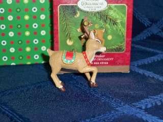 2000 Hallmark Keepsake Club Ringing Reindeer Ornament
