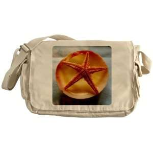 Khaki Messenger Bag Sea Shell and a Starfish Everything